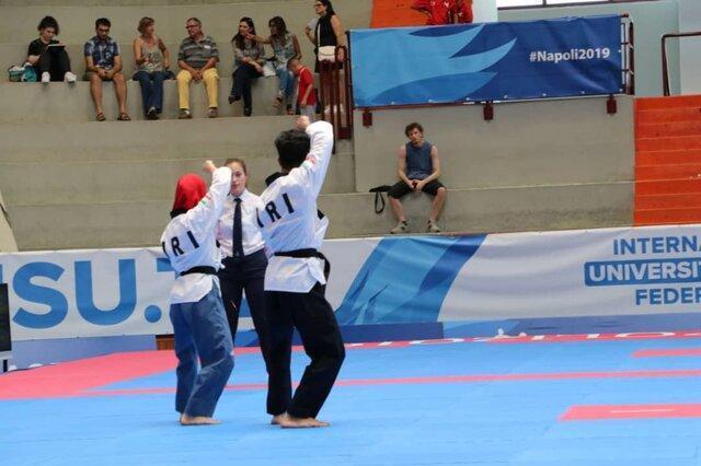 پومسه دو نفره به ششمین برنز در یونیورسیاد رسید، صعود ایران به رتبه یازدهم با 10 مدال