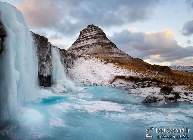 تصاویر بسیار زیبا از آبشارهای منجمد