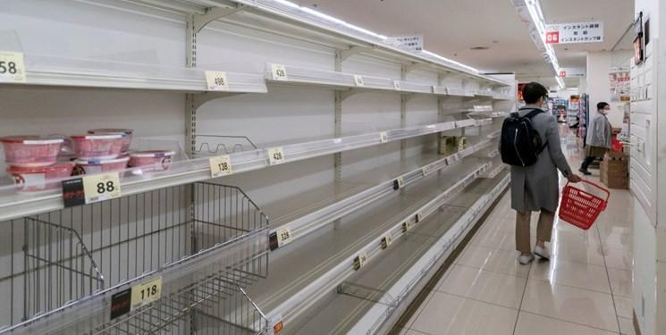 کرونا ، هجوم ژاپنی ها به فروشگاه های توکیو پیش از اعلام قرنطینه